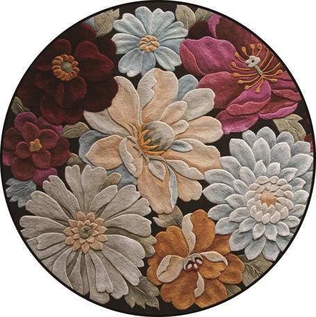 3D立体フラワーラウンドカーペット 直径40cm 高級 お得なキャンペーンを実施中 絨毯 百貨店 円形 リビング ふわふわ サイズ豊富 花柄