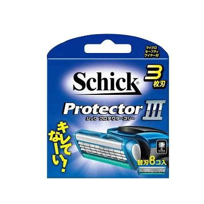 シック Schick プロテクタースリー 3枚刃 替刃 (8コ入)4000円以上で送料無料(北海道・沖縄・東北6県除く)