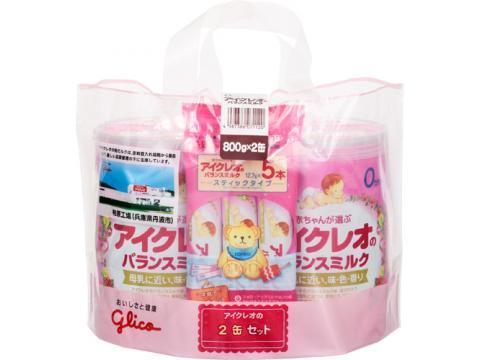 ≪送料無料≫アイクレオのバランスミルク(スティックタイプ5本付) 800g×2缶×4個セット