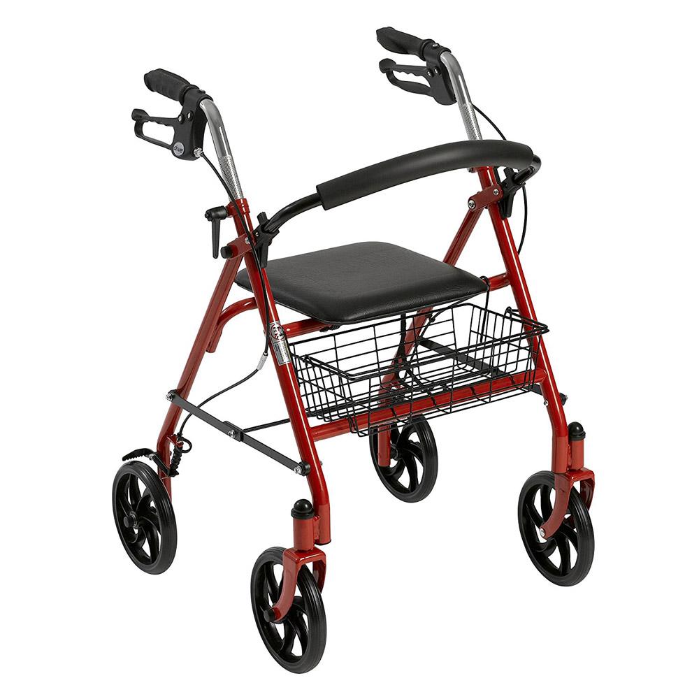 【取寄】歩行車 歩行器 Piacere Uno(ピアチェーレ ウノ) レッド 10257RD-1 ドライブメディカル【送料無料】