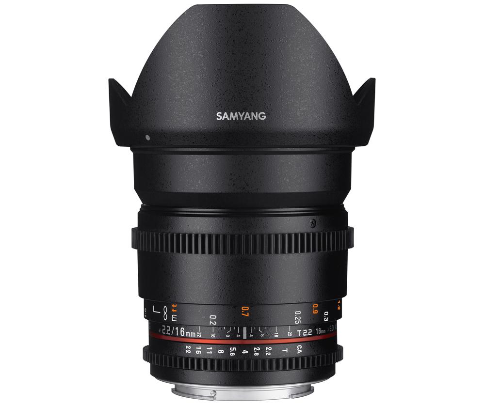 【取寄】 SAMYANG サムヤン シネマレンズ 16mm T2.2 VDSLR ED AS UMC CS II ソニーA用 【送料無料】