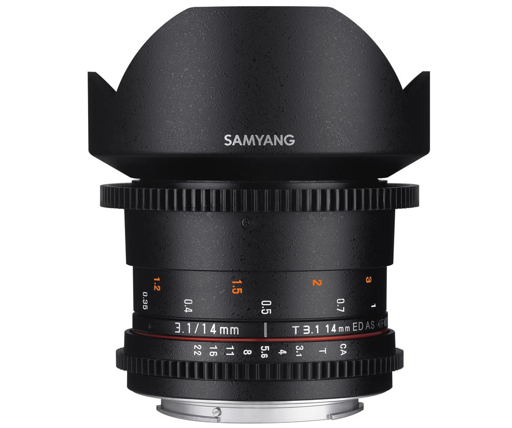 【取寄】 SAMYANG サムヤン シネマレンズ 14mm T3.1 VDSLR ED AS IF UMC II キヤノンEF用 【送料無料】