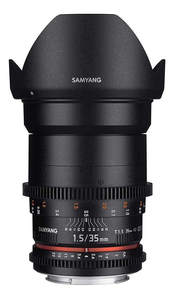 【取寄】 SAMYANG サムヤン シネマレンズ 35mm T1.5 VDSLR AS UMC II ニコンF用 【送料無料】