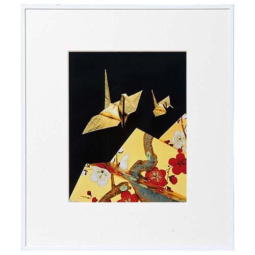 【即配】 画廊 ホワイト 四切 ガラス入り AGR-4-WH ケンコートキナー KENKO TOKINA 【送料無料】【あす楽対応】