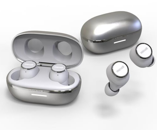 【取寄】 maxell マクセル True Wireless Stereo ヘッドフォン トゥルーワイヤレスステレオヘッドフォン ホワイト×シルバー MXH-BTW2000WS 【送料無料】
