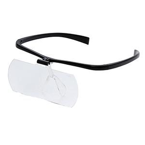 【即配】交換レンズつき両手が使えるメガネ拡大鏡II 1.6倍/2倍 KTL-9209-BK (ブラック) ケンコートキナー KENKO TOKINA 【送料無料】