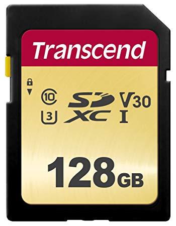 【即配】(KT) トランセンド SDXCメモリカード 128GB : TS128GSDC500S UHS-I U3 MLC【ネコポス便送料無料】