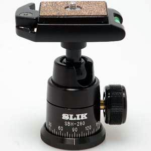 【日本製】【即配】 SLIK スリック 自由雲台SBH-280E BK(ブラック)【送料無料】【あす楽対応】【アウトレット】