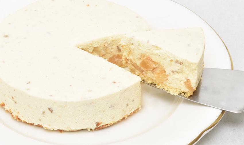 お取り寄せ(楽天) 低糖質 りんごとナッツのレアチーズケーキ 価格3,990円 (税込)