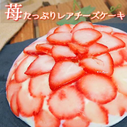 【砂糖不使用】苺たっぷりレアチーズケーキ