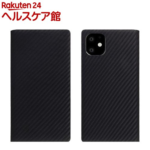 SLG Design iPhone 11 carbon leather case ブラック SD17901i61R(1個)【SLG Design(エスエルジーデザイン)】