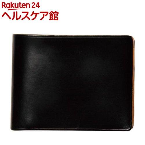 イル・ブセット 2つ折り財布(小銭入れ付) ブラック(1コ入)【Il Bussetto(イル・ブセット)】
