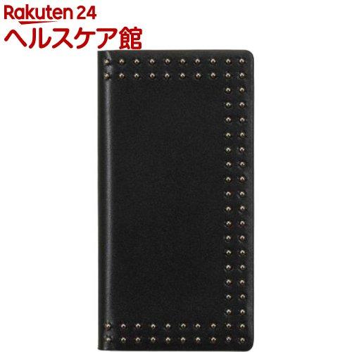 エブルイ iPhone XS Max ドットスタッズダイアリー ブラック EB14406i65(1コ入)