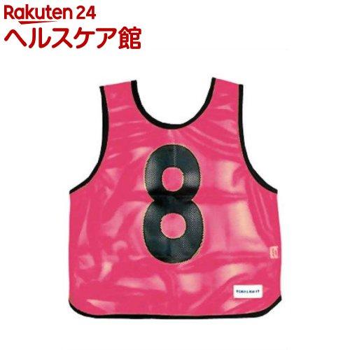 メッシュベスト(1-10) 蛍光ピンク B-7691P(1枚入)【トーエイライト】