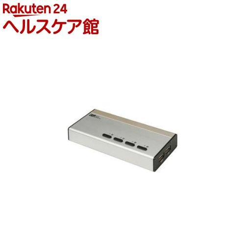 パソコン自動切替器 USB接続DVI/Audio対応 4台用 REX-430UDA(1セット)