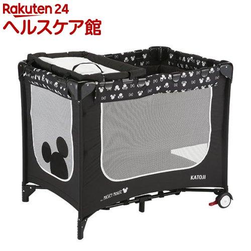 カトージ ポータブルベビーベッド おむつ替えテーブル付 (ミッキーマウス)(1台)【カトージ(KATOJI)】