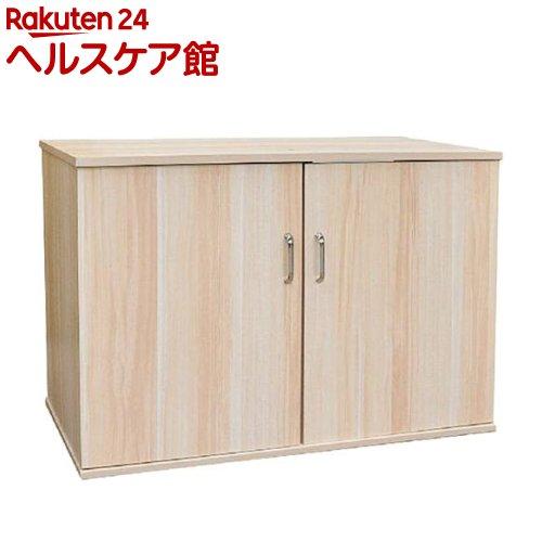扉付キャビネット 910W シロ 木目(1コ入)【送料無料】