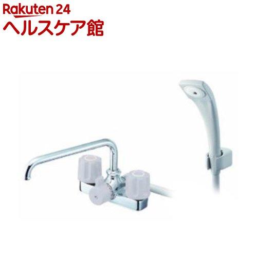 三栄水栓 ツーバルブデッキシャワー混合栓 SK710-LH(1コ入)【送料無料】