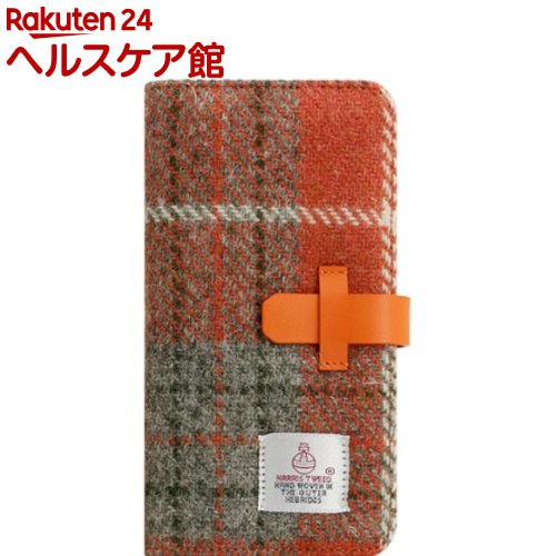 SLG iPhone XR ハリスツイードダイアリー オレンジ*グレー SD13716i61(1個)【SLG Design(エスエルジーデザイン)】