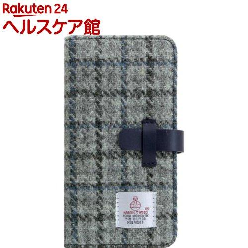 SLG iPhone XR ハリスツイードダイアリー グレー*ネイビー SD13717i61(1個)【SLG Design(エスエルジーデザイン)】