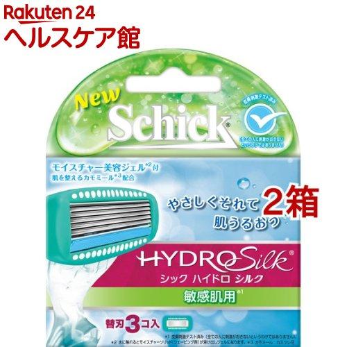 シック ハイドロ シルク 敏感肌用 替刃(3コ入*2箱セット)【シック】