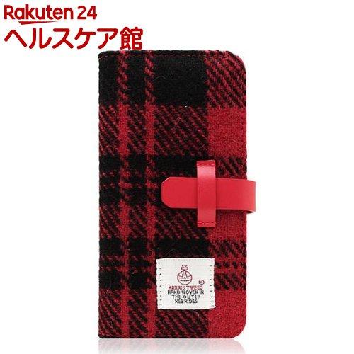 SLGデザイン iPhone7 ハリスツィードダイアリー レッド*ブラック SD8121i7(1コ入)【SLG Design(エスエルジーデザイン)】