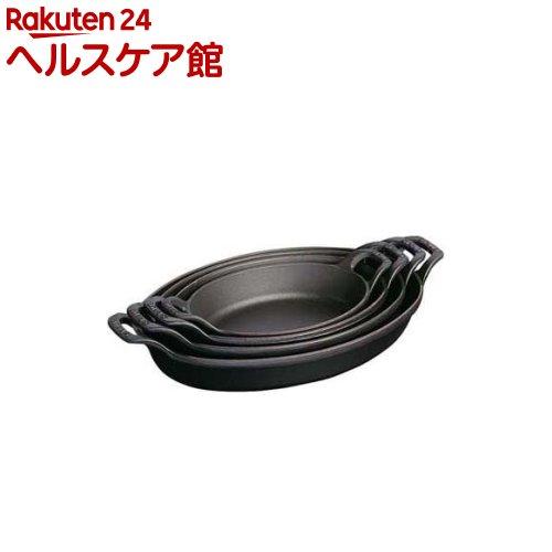 ストウブ オーバルスタッカブルディッシュ ブラック 24cm 40509-393(1コ入)【ストウブ】