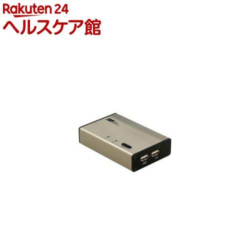 パソコン自動切替器 USB接続・DVI/Audio対応 2台用 REX-230UDA(1セット)