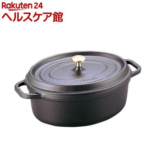 ストウブ ピコ・ココット オーバル 15cm 黒 40509-478(1コ入)【ストウブ】【送料無料】