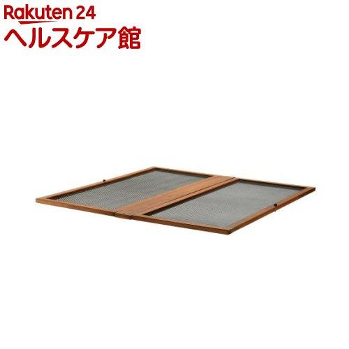 リッチェル 木製スクエアペットルーム 120-120 屋根面 ダークブラウン(1コ入)【リッチェル】【送料無料】