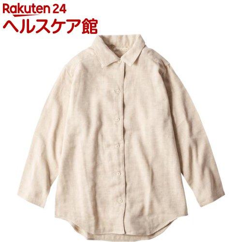 ガーゼパジャマ ダブルガーゼ゛Mサイズ 茶(1枚)【メイドインアース】