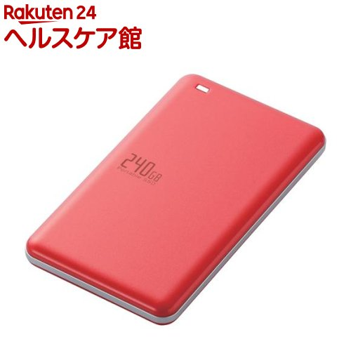 外付けSSD ポータブル USB3.1(Gen1)対応 240GB レッド ESD-ED0240GRD(1コ入)【エレコム(ELECOM)】【送料無料】