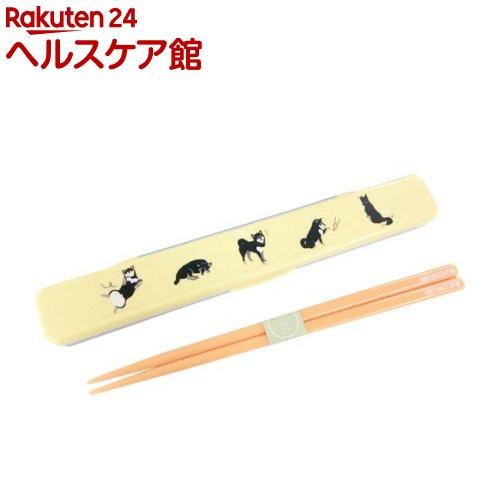 箸 箸箱セット コミック クロヤナギ イエロー 箸18cm FW-760-224(1コ入)