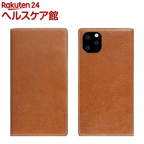 SLG Design iPhone 11 Pro Max Tamponata Leather case タン SD17940i65R(1個)【SLG Design(エスエルジーデザイン)】