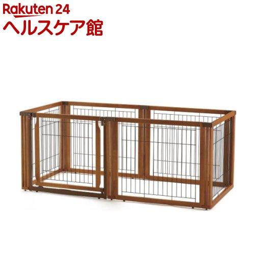 リッチェル ペット用 木製3ウェイサークル 6面70H ブラウン(1台)