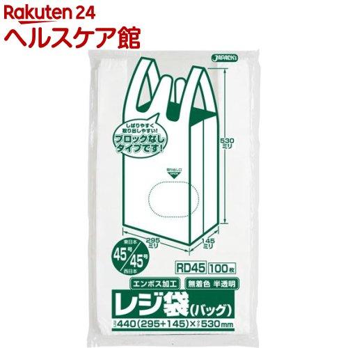 ジャパックス 年中無休 レジ袋 ノンブロックベロ付き 半透明 東日本45号 RD-45 新着セール 100枚入 西日本45号