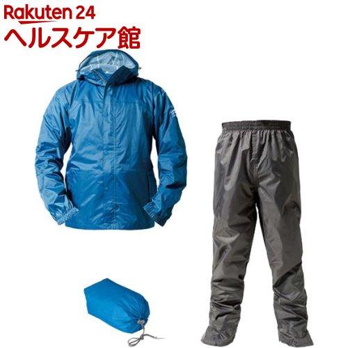 マック レインスーツ アジャストマック バッグイン スカイブルー 4L AS-7600SB4L(1セット)【Makku(マック)】