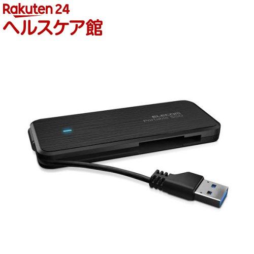 外付けSSD ポータブル ケーブル収納対応 USB3.1(Gen1)対応 120GB 黒 ESD-EC0120GBK(1個)【エレコム(ELECOM)】