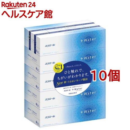 ティッシュ 新作通販 日本製 プラスウォーター +Water エリエール ティシュー 5箱パック 10コセット