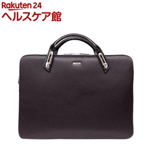 アビィ ミッシェル サテンブリーフケース Lサイズ ブラック B6306BK(1コ入)【アビィ】【送料無料】