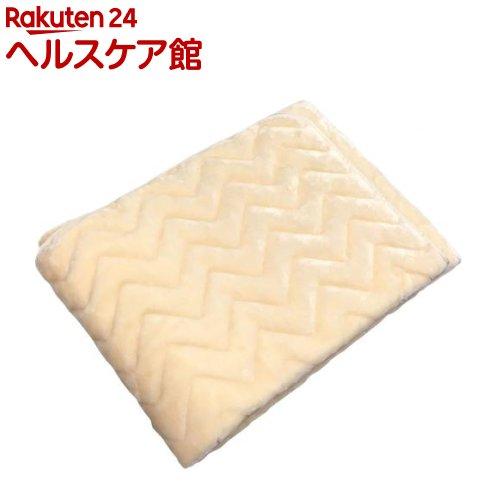 日本製 アクリル敷きパッド アイボリー ダブルサイズ 2K6100D(1枚入)【送料無料】