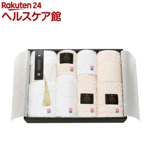 IMABARI殿堂 天然水仕上げ 愛媛今治 タオルセット ホワイト ベージュ 62620(6枚組)