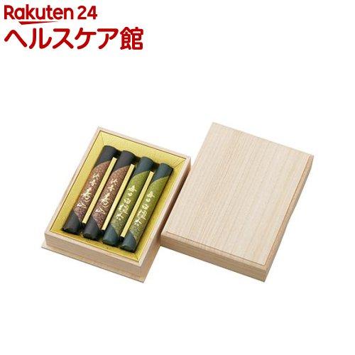 毎日白檀香・沈香寿山 二種香揃え 桐箱(4把入)【毎日白檀香】