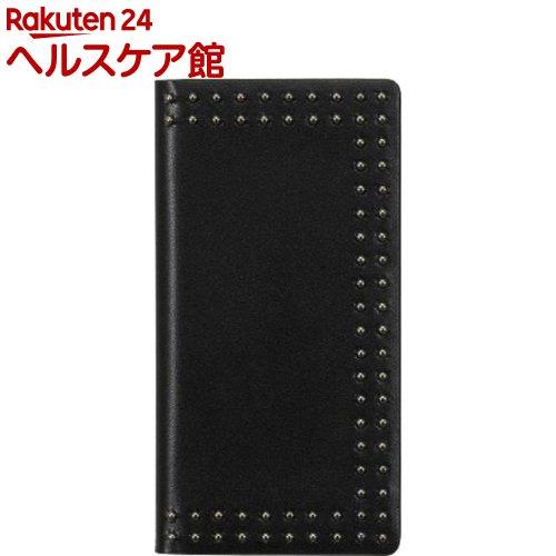 エブルイ iPhone X ドットスタッズダイアリー ブラック EB10252i8(1コ入)