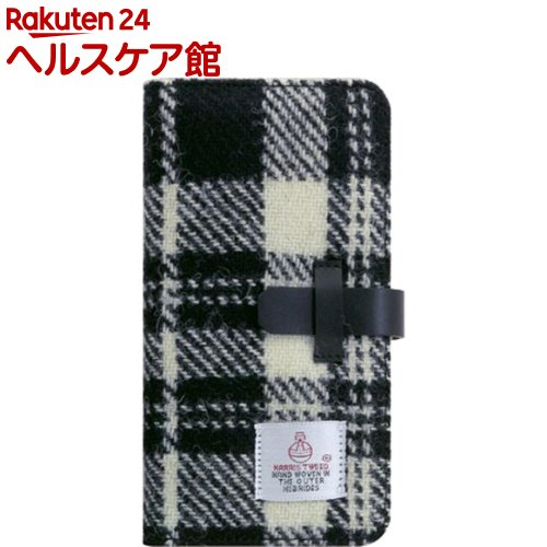 SLG iPhone XS MAX ハリスツイードダイアリー ホワイト*ブラック SD13754i65(1個)【SLG Design(エスエルジーデザイン)】
