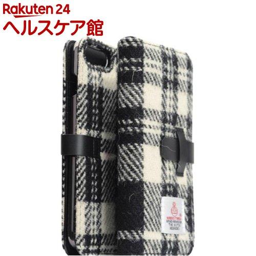 エスエルジーデザイン iPhone7 PLus ハリスツィード ダイアリー ホワイト*ブラック(1コ入)【SLG Design(エスエルジーデザイン)】【送料無料】