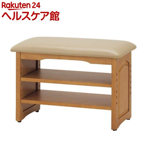 木製収納付き玄関ベンチ(ガタつき防止付き) 60cm幅 03519(1台)【送料無料】