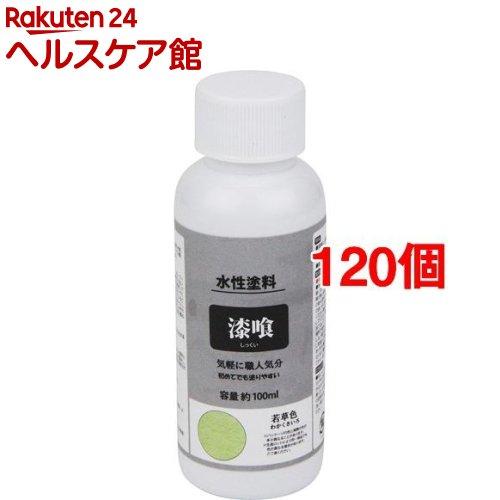 漆喰風ペイント 若草色(100ml*120個セット)