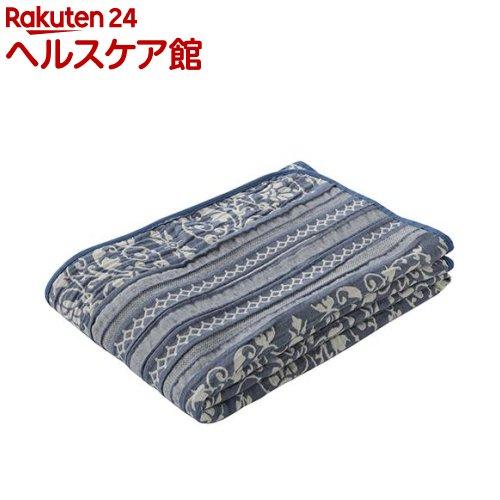 東京西川 ガーゼケット 洗える やわらか 3重ガーゼ湿度調節 日本製 ネイビー シングル(1枚入)【東京西川】【送料無料】