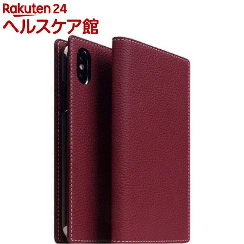 SLG iPhone XS/X フルグレインレザーケース バーガンディーローズ SD13661i58(1個)【SLG Design(エスエルジーデザイン)】